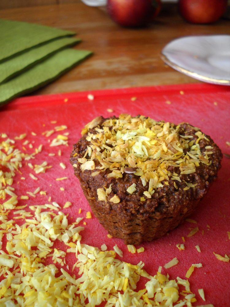 Malinowe wegańskie muffinki na dżemie