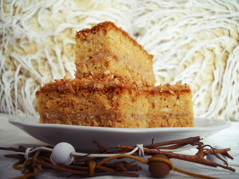 wegańskie ciasto podwójnie kokosowe